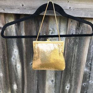 VINTAGE GOLD MESH PURSE MADE IN WEST GERMANY